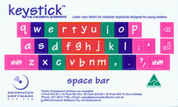 keyboard stickers lower case