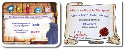 Phonics Alive 3 The Speller Screen and Certificate